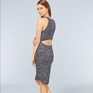 Wilfred Free Grey Yasmin Knit Open Back Dress